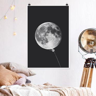 Poster - Jonas Loose - Palloncino con Luna - Verticale 3:2