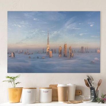 Stampa su tela - Dubai Sopra Le Nuvole - Orizzontale 3:2