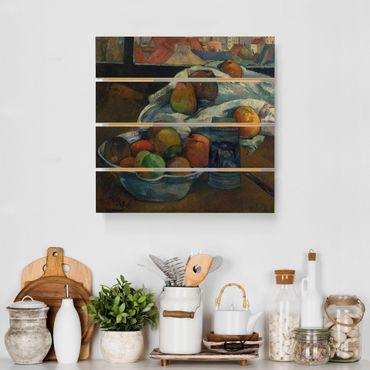 Stampa su legno - Paul Gauguin - Ciotola di frutta - Quadrato 1:1