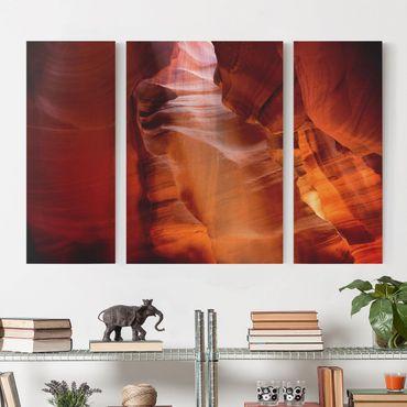 Stampa su tela 3 parti - Antelope Canyon - Trittico
