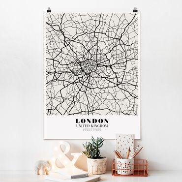 Poster - Mappa di Londra - Classic - Verticale 4:3