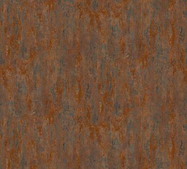 Carta da parati - A.S. Création Il Decoro in Marrone Metalizzato Arancione