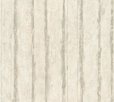 Carta da parati - A.S. Création Best of Wood`n Stone 2nd Edition in Crema Grigio Metalizzato
