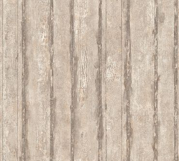 Carta da parati - A.S. Création Best of Wood`n Stone 2nd Edition in Beige Grigio Metalizzato