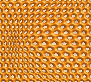 Carta da parati - Livingwalls Harmony in Motion by Mac Stopa in Grigio Metalizzato Arancione