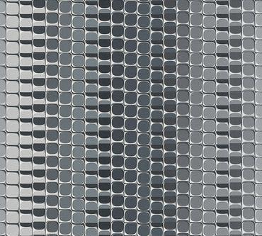 Carta da parati - Livingwalls Harmony in Motion by Mac Stopa in Grigio Metalizzato Bianco