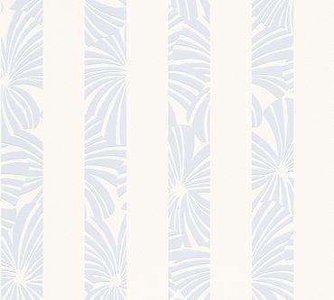 Carta da parati - Esprit Esprit 12 Play in Summer in Blu Crema Bianco