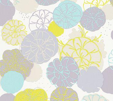 Carta da parati - Esprit Esprit 12 Dream of Spring in Blu Grigio Verde