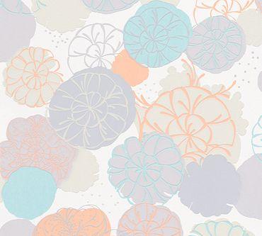 Carta da parati - Esprit Esprit 12 Dream of Spring in Grigio Verde Arancione