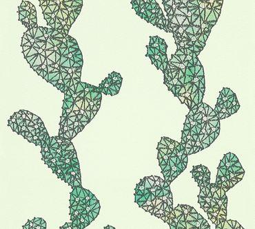 Carta da parati - A.S. Création Urban Flowers in Verde Nero
