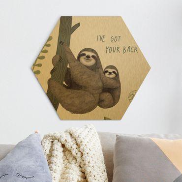 Esagono in Alu-dibond - Sloth Proverbi - chill