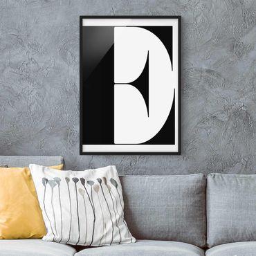 Poster con cornice - Antiqua Letter E - Verticale 4:3