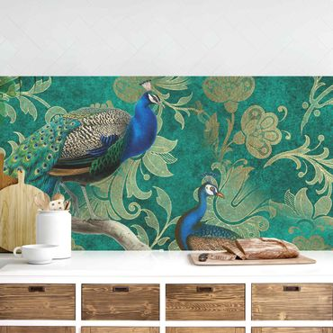 Rivestimento cucina - Shabby Chic Collage - Noble Peacock II