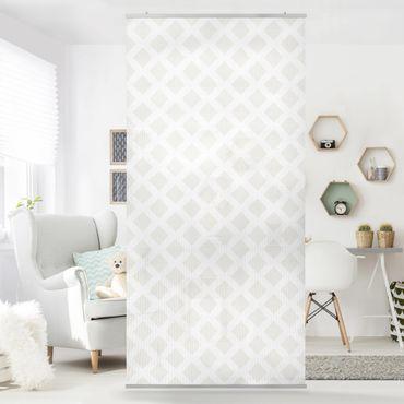 Tenda a pannello Diamond lattice light beige 250x120cm