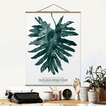 Foto su tessuto da parete con bastone - Emerald Philodendron Bipinnatifidum - Verticale 4:3