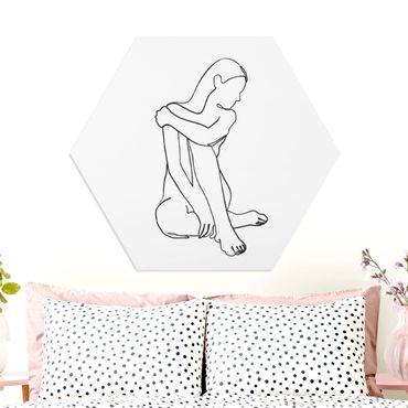 Esagono in forex - Line Art Nudo donna Bianco e nero