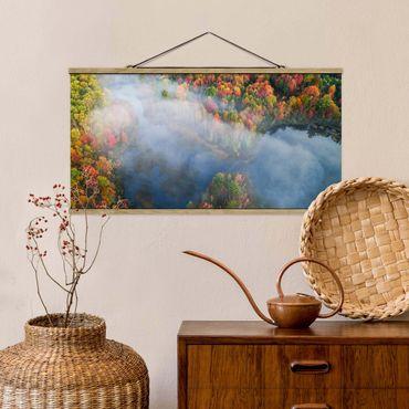 Foto su tessuto da parete con bastone - Veduta aerea - Sinfonia d'autunno - Orizzontale 1:2