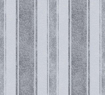 Carta da parati - Livingwalls Jette 4 in Blu Grigio Metalizzato