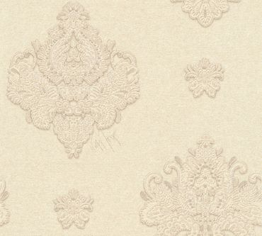 Carta da parati - Architects Paper Kind of White by Wolfgang Joop in Beige Crema Metalizzato