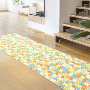 Tappeti in vinile - Mosaico di piastrelle set estivo - Pannello
