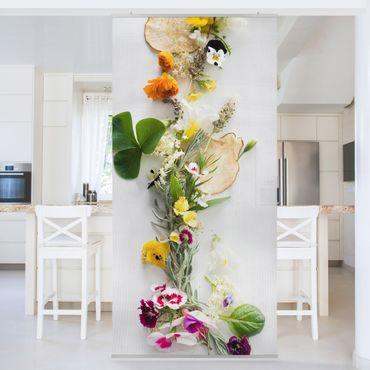 Tenda a pannello - Fresh Herbs With Edible Flowers - 250x120cm