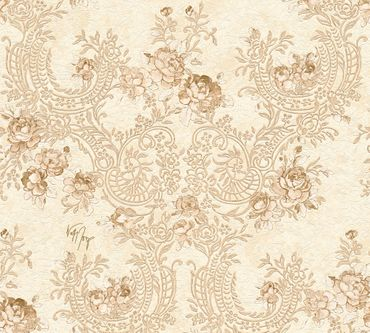 Carta da parati - Architects Paper Kind of White by Wolfgang Joop in Beige Marrone Metalizzato