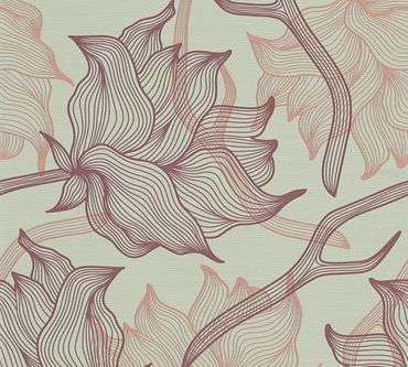 Carta da parati - Lars Contzen Artist Edition No. 1 Dried Flowers in Grigio Lilla