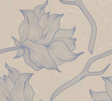 Carta da parati - Lars Contzen Artist Edition No. 1 Dried Flowers in Beige Grigio
