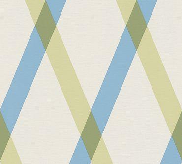 Carta da parati - Lars Contzen Artist Edition No. 1 Cornish Castle in Blu Verde Bianco