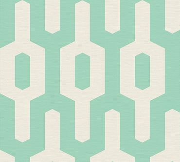 Carta da parati - Lars Contzen Artist Edition No. 1 Ageless Meander in Verde Bianco