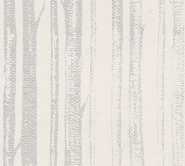 Carta da parati - A.S. Création Scandinavian Style in Grigio Metalizzato Bianco
