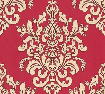 Carta da parati - A.S. Création Hermitage 10 in Beige Metalizzato Rosso