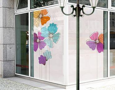 XXL Pellicola per vetri - Poppies In Pastel