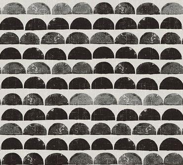 Carta da parati - A.S. Création Scandinavian Style in Crema Metalizzato Nero