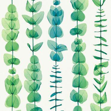 Carta da parati - A.S. Création X-Ray in Verde Metalizzato Bianco