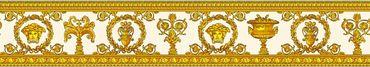 Carta da parati - Versace wallpaper Versace 3 Vanitas in Giallo Metalizzato Arancione