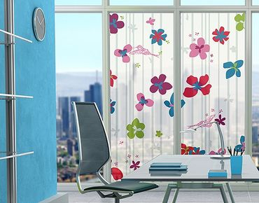 XXL Pellicola per vetri - Floral Pattern