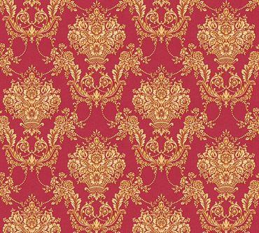 Carta da parati - A.S. Création Château 5 in Giallo Metalizzato Rosso