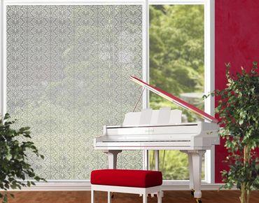XXL Pellicola per vetri - No.TA97 Antique Pattern Silver