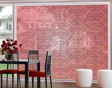 XXL Pellicola per vetri - No.TA98 Antique Pattern Pink