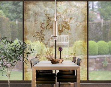 XXL Pellicola per vetri - Wooden Flower