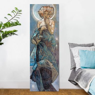 Quadri su tela - Alfons Mucha - Stars - The Moon