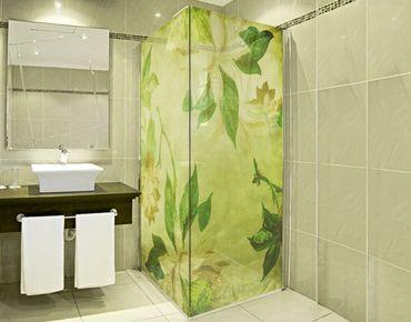 XXL Pellicola per vetri - Green Blossoms