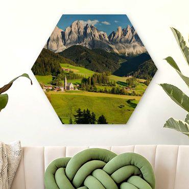 Esagono in legno - Odle in Alto Adige