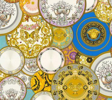 Carta da parati - Versace wallpaper Versace 3 Les Etoiles de la Mer 2 in Multicolore Metalizzato