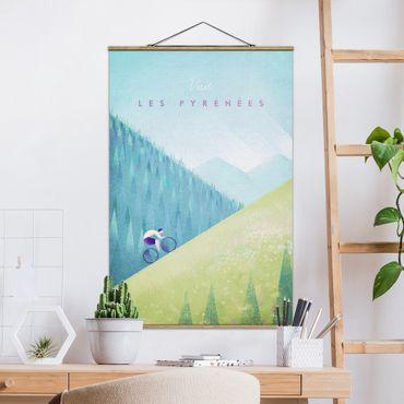 Foto su tessuto da parete con bastone - Poster Travel - I Pirenei - Verticale 3:2