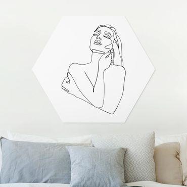 Esagono in forex - Line Art Torso della donna Bianco e nero