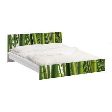 Carta adesiva per mobili IKEA - Malm Letto basso 160x200cm Bamboo Trees No.1