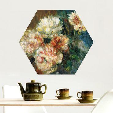 Esagono in Alluminio Dibond - Auguste Renoir - Peonie Vaso