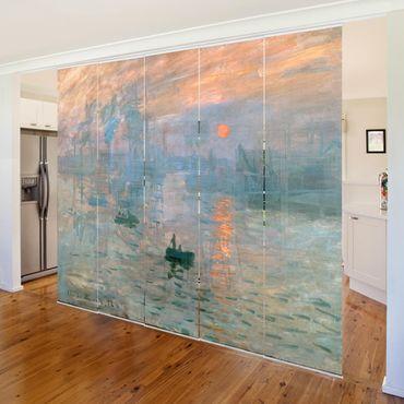 Tende scorrevoli set - Claude Monet - Impressione - 5 Pannelli